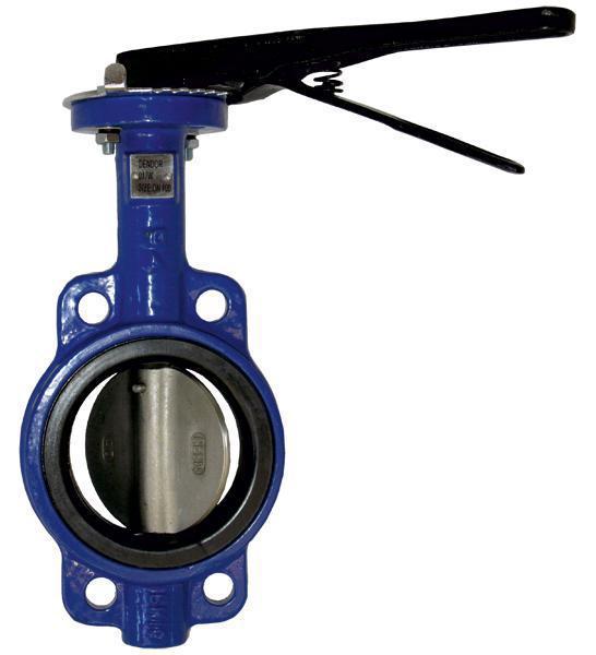 Затвор дисковый поворотный sylax vfy-wh ду50 ру16 межфланцевый с рукояткой 065b7352 danfoss