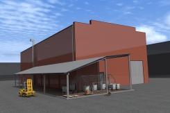 Реконструкция склада смолы в г. Челябинске