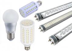 Светодиодные лампы: технические характеристики