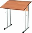 стол ученический одноместный нерегулируемый с изменяемым углом наклона крышки   700Х550Х760