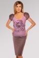 Трикотажное платье 2