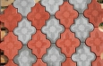 Террасная плитка Лилия узорная