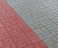 Тротуарная плитка Кирпич гладкий серый