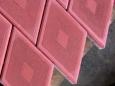 Тротуарная плитка Ромб узорный красный