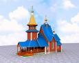 3D - моделирование храмов, проектирование куполов