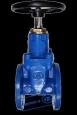 Задвижка с обрезиненным клином гранар® серии kr15, dn 50-500, pn 1,0/1,6 мпа с электроприводами серии sa