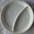 Тарелка D-205 белая 2-секц. ИнтроПластик100/2000