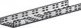 Лоток прямой монтажный глухой (h-100 мм) ЛМГ200 УХЛ2,5