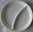 Тарелка 2-секц. белая  d 205  100 /1800