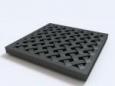 Решетка пластиковая усиленная из полиамида, цвет черный