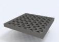Решетка пластиковая усиленная из полиамида, цвет металлик