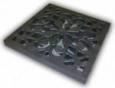 Решетка пластиковая декоративная, цвет металлик