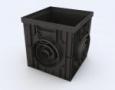 Пластиковая решетка «Волна», цвет черный