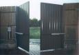 Распашные ворота с заполнением из панелей Топаз