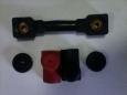 Провод медный перемычка АКБ обрезиненный L100 (комплект с колпачками)