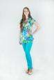 Блуза летняя с ярким принтом