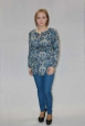 Блуза с длинным рукавом с орнаментом