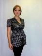 Блуза с коротким рукавом черная
