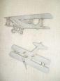 Декоративный элемент «Ретро самолеты»