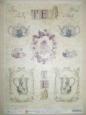 Декупажная карта «Цветочный чай», мини