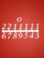 Набор цифр для часов 1, пластик
