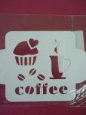 Трафарет «Кофе с кексом»