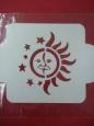 Трафарет «Солнце и луна»