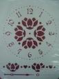 Трафарет «Циферблат: Лотосы»