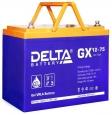 Аккумулятор Delta GX12-75 75А/ч (258*166*215)