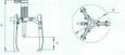 Съемник гидравлический с приводом центрирования и захвата СГ3100-1