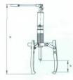 Съемник с винтовым приводом СВ103 (POSI LOCK)