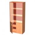 Шкаф для документов со стеклом, разм. 800Х400Х1800