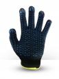 Перчатки хб 4 нитки черные с пвх