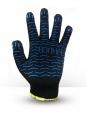 Перчатки хб 5 ниток черные с пвх волна
