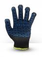 Перчатки хб 6 ниток черные с пвх