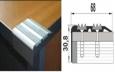 Алюминиевый угловой профиль с двумя резиновыми вставками в розницу