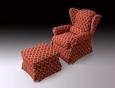 Кресло Berzhe 2 + пуф