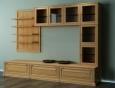 Шкаф для гостиной из светлого дерева