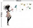 Наклейка «Девочка в платье из цветов (110 х 140 см)»