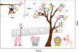 Наклейка «Дерево с обезьянами (140 х 220 см)»