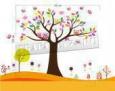 Наклейка «Дерево с совами (120 х 105 см)»