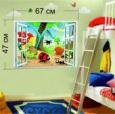 Наклейка «Окно в детской комнате »