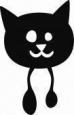 Наклейка «Кот-Бегемот»