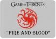 Наклейка «Герб и девиз семьи Таргариенов Пламя и кровь»