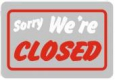 Наклейка «Извините мы закрыты»