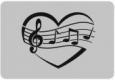 Наклейка «Музыка сердца»