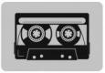 Наклейка «Ретро касета»