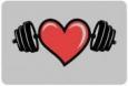 Наклейка «Сердце на ноутбук»
