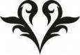 Наклейка «Сердце (орнамент)»