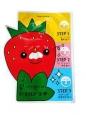 "Пластыри для носа против черных точек TONY MOLY ""Homeless Strawberry Seeds 3-step Nose Pack"" 6 гр"
